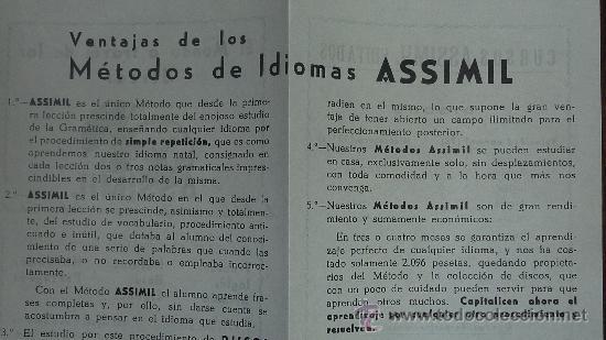 Catálogos de Música: Folletos de curso assimil editados. Idiomas a traves de los discos - Foto 3 - 24565651