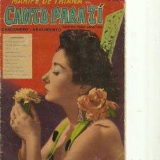 Catalogues de Musique: MARIFE DE TRIANA CANCIONERO ARGUMENTO DEL FILM CANTO PARA TI AÑO 1959. Lote 26047842