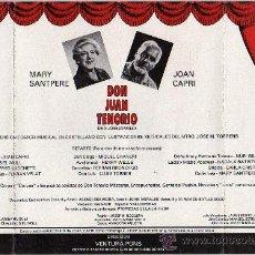 Catálogos de Música: PROGRAMA JORGE MORELL DON JUAN TENORIO DE ZORRILA MARY SANTPERE Y JOAN CAPRI ROMEA 1976. Lote 26772357