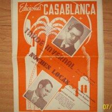 Catálogos de Música: J. DOLZ TARDE INVERNAL - A. BOIGUES NOCHES LOCAS - PARTITURAS PARA TODOS LOS INTRUMENTOS. Lote 27499828
