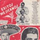 Catálogos de Música: EXITOS MEJICANOS. TRIO CALAVERAS. TONY AGUILAR.EDICIONES MARAZUL.. Lote 28222414