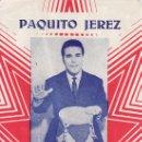 Catálogos de Música: PAQUITO JEREZ. SUS MAS FAMOSOS EXITOS. EDICIONES MARAZUL.. Lote 28222441