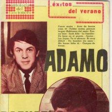 Catálogos de Música: ANTOLOGIA DEL CANCIONERO. EXITOS DEL VERANO. ADAMO . RAPHAEL. EDITORIAL ALAS.. Lote 28222605