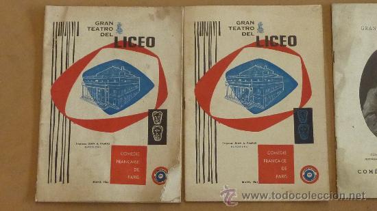 Catálogos de Música: lote de 5 catalogos de gran teatro del Liceo. de 1958 a 1961. Barcelona. - Foto 2 - 28589548