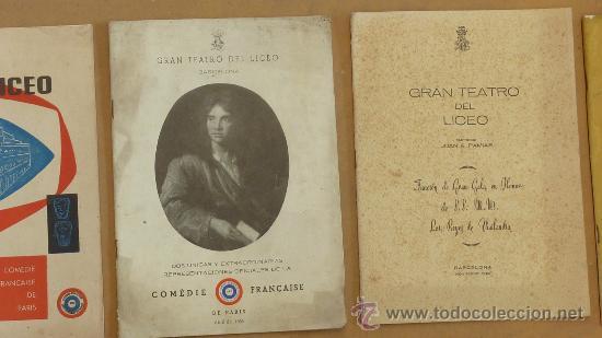 Catálogos de Música: lote de 5 catalogos de gran teatro del Liceo. de 1958 a 1961. Barcelona. - Foto 3 - 28589548