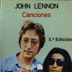 Catálogos de Música: JOHN LENON - CANCIONES - ESPIRAL - 1985. Lote 28907659