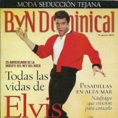 Catálogos de Música: ELVIS PRESLEY REVISTA BLANCO Y NEGRO AÑO 2002. Lote 29049577