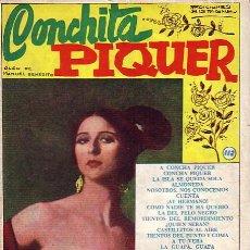 Catálogos de Música: CANCIONERO. CONCHITA PIQUER. Lote 29330353