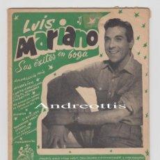 Catálogos de Música: CANCIONERO LUIS MARIANO. EDICIONES BISTAGNE . Lote 29492510
