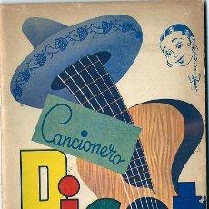 Catálogos de Música: 0815A - CANCIONERO PICOT - 64 PÁGINAS CANCIONES - DIVERSAS PUBLICIDADES -AÑOS 50 - EDIT MODERNA. Lote 29574047