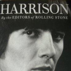 Catálogos de Música: HARRISON BY THE EDITORS OF ROLLING STONE BEATLES TAPAS DURAS 240 PÁGINAS BIOGRAFIA,FILMOGRAFIA,CO. Lote 26895848