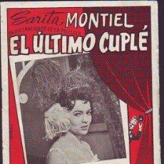 Catálogos de Música: CANCIONERO EL ÚLTIMO CUPLÉ SARITA MONTIEL. Lote 29673302