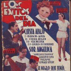 Catálogos de Música: CANCIONERO LOS ÉXITOS DEL DÍA. Lote 29673429