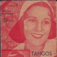 Catálogos de Música: CANCIONERO DE TANGOS Y CANCIONES. Lote 29673560