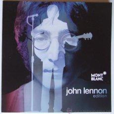 Catálogos de Música: BEATLES JOHN LENNON CATALOGO OFICIAL ESPAÑOL PLUMAS MONTBLANC. Lote 184200466