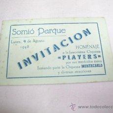 Catálogos de Música: INVITACIÓN SOMIÓ PARQUE,GIJÓN AÑO 1948. Lote 29983166