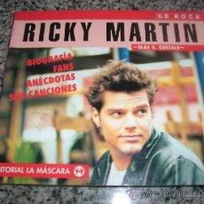 Catálogos de Música: RICKY MARTIN (BIOGRAFIA, FANS, ANECDOTAS, CANCIONES), POR OLGA GONZALO - LA MASCARA - ESPAÑA- 1998. Lote 30046407