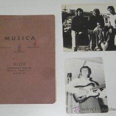Catálogos de Música: LOTE HISTORICO DEL LIDER DEL GRUPO TRIANA JESUS DE LA ROSA, COMPUESTO DE CUADERNO MANUSCRITO CON 10. Lote 30284000