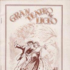 Catálogos de Música: LICEO. 1939. PROGRAMA OPERA