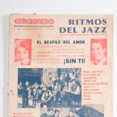Catálogos de Música: CANCIONERO Nº2 RITMOS DEL JAZZ, EL DESFILE DEL AMOR, SIN TI - EDITORIAL ALAS. Lote 30585232