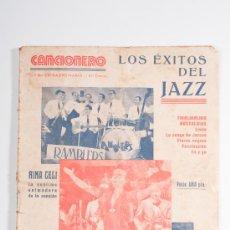 Catálogos de Música: CANCIONERO Nº1 LOS ÉXITOS DEL JAZZ - EDITORIAL ALAS. Lote 30585427
