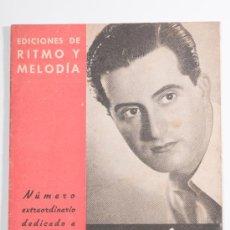 Catálogos de Música: CANCIONERO - NUMERO EXTRAORDINARIO DEDICADO A RAFAEL MEDINA - EDICIONES DE RITMO Y MELODÍA. Lote 30600316