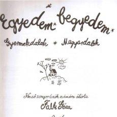Catálogos de Música: EGYEDEM BEGYDEM - FALK GÉZA - BUDAPEST - 1991. Lote 30690853