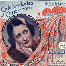 Catálogos de Música: ESTRELLITA CASTRO, CELEBRIDADES DEL CANCIONERO Nº 6, BARCELONA, ED. ALAS, 1943. Lote 31228768