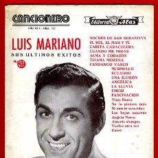 Catálogos de Música: CANCIONERO LUIS MARIANO , EDITORIAL ALAS, , ORIGINAL, A. Lote 31708425