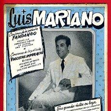Catálogos de Música: CANCIONERO LUIS MARIANO , EDICIONES BESTAGNE , ORIGINAL. Lote 31708449
