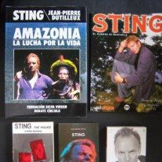 Catálogos de Música: STING. 5 LIBROS.GRAN PACK THE POLICE: CANCIONERO, AUTOBIOGRAFÍA, GRAN TOMO AMAZONIA, ÁLBUM+ POSTER... Lote 31728979