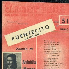 Catálogos de Música: EL MOMENTO MUSICAL Nº 51 - PUENTECITO A-CANCI-086. Lote 31808517