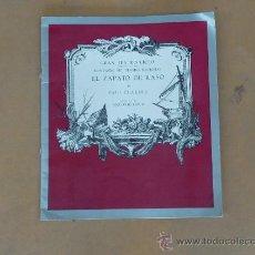Catálogos de Música: GRAN TEATRO DEL LICEO LICEU. EL ZAPATO DE RASO. . Lote 31873381