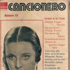 Catálogos de Música: CANCIONERO IMPERIO ARGENTINA. Lote 32203798