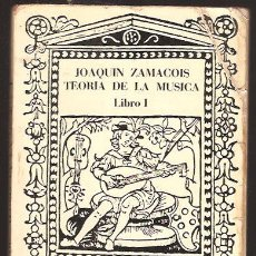 Catalogues de Musique: TEORIA DE LA MUSICA - LIBRO 1. Lote 231887220