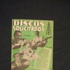 Catálogos de Música: DISCOS SOLICITADOS - Nº 3 - EDICIONES BISTAGNE - . Lote 32471192