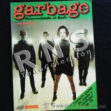 Catálogos de Música: GARBAGE REINVENTANDO EL ROCK LIBRO Y PÓSTER - MÚSICA GRUPO DE EEUU ESCOCIA LA MÁSCARA MUY ILUSTRADO. Lote 32507874