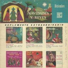 Catálogos de Música - TRIPTICO, SUPLEMENTO EXTRAORDINARIO DE DISCOS SELLO PHILIPS AÑO 1963, - 32605511