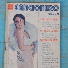 Catálogos de Música: ANTIGUO CANCIONERO NUMERO 24 - IMPERIO ARGENTINA - 32 PAGINAS - SU NOCHE DE BODAS, LO MEJOR ES REI. Lote 32724757