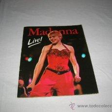 Catálogos de Música: MADONNA LIVE AÑO 1987. Lote 33258787