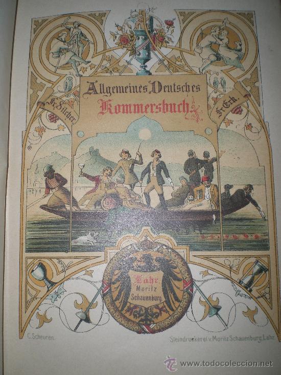 Catálogos de Música: Schauenburgs Allgemeines Deutsches Kommersbuch - auf dem Deckel: Gaudeamus igitur Juvenes dum sumus! - Foto 3 - 33355343