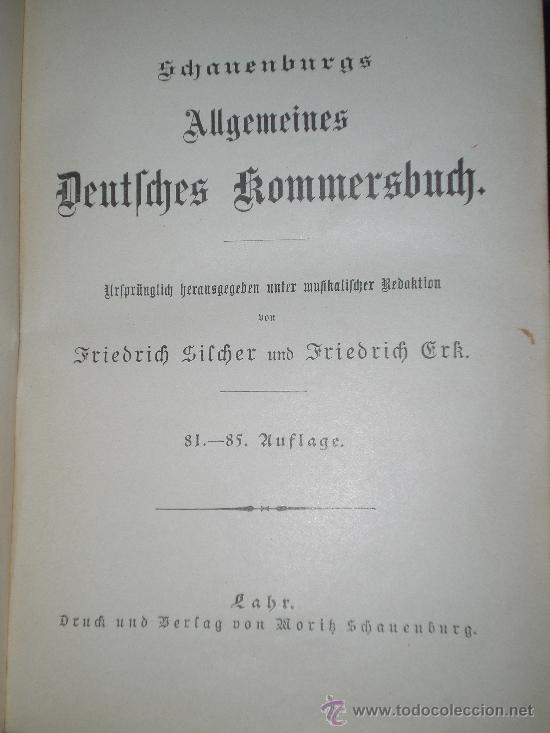 Catálogos de Música: Schauenburgs Allgemeines Deutsches Kommersbuch - auf dem Deckel: Gaudeamus igitur Juvenes dum sumus! - Foto 4 - 33355343