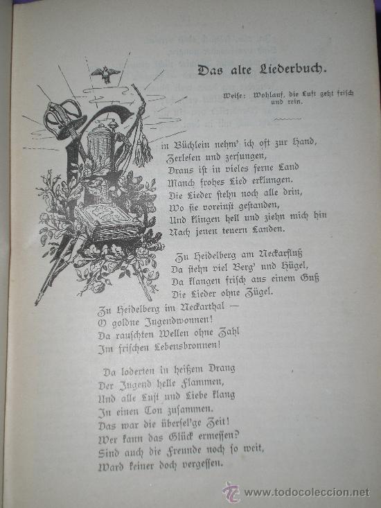 Catálogos de Música: Schauenburgs Allgemeines Deutsches Kommersbuch - auf dem Deckel: Gaudeamus igitur Juvenes dum sumus! - Foto 5 - 33355343