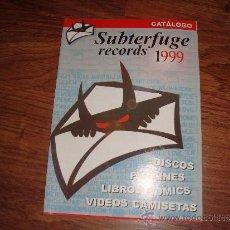 Catálogos de Música - catalogo subterfuge records 1999 - 33385792
