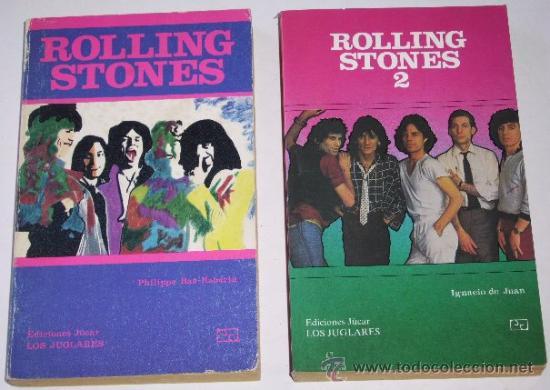 ROLLING STONES 2T DE EDICIONES JÚCAR (LOS JUGLARES) Nº 6 Y 50 (1984 Y 1990) (Música - Catálogos de Música, Libros y Cancioneros)