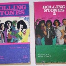 Catálogos de Música: ROLLING STONES 2T DE EDICIONES JÚCAR (LOS JUGLARES) Nº 6 Y 50 (1984 Y 1990). Lote 33554006