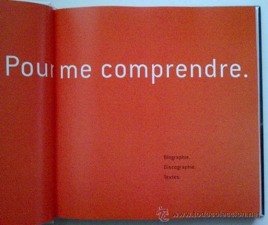 Catálogos de Música: Michel Berger. Pour me comprendre. Biographie. Discographie. Textes. Como nuevo! - Foto 2 - 33659812