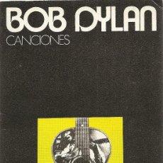 Catálogos de Música: CANCIONES DE BOB DYLAN. Lote 34099765