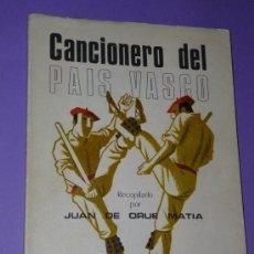 Catálogos de Música: CANCIONERO DEL PAÍS VASCO. . Lote 34087209