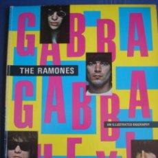 Catálogos de Música: THE RAMONES GABBA GABBA HEY AN ILLUSTRATED BIOGRAPHY BY MILES. Lote 34344494